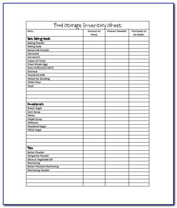 Excel Inventory Sheet Free Template