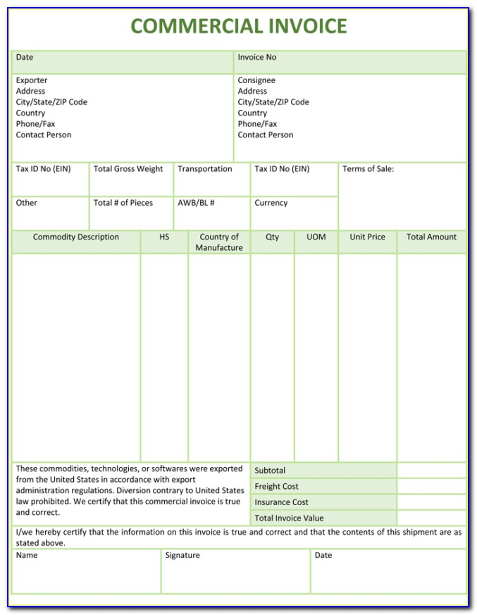 Excel Invoice Template Macro