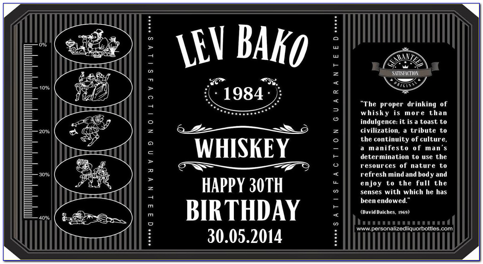 Free Editable Jack Daniels Label Template