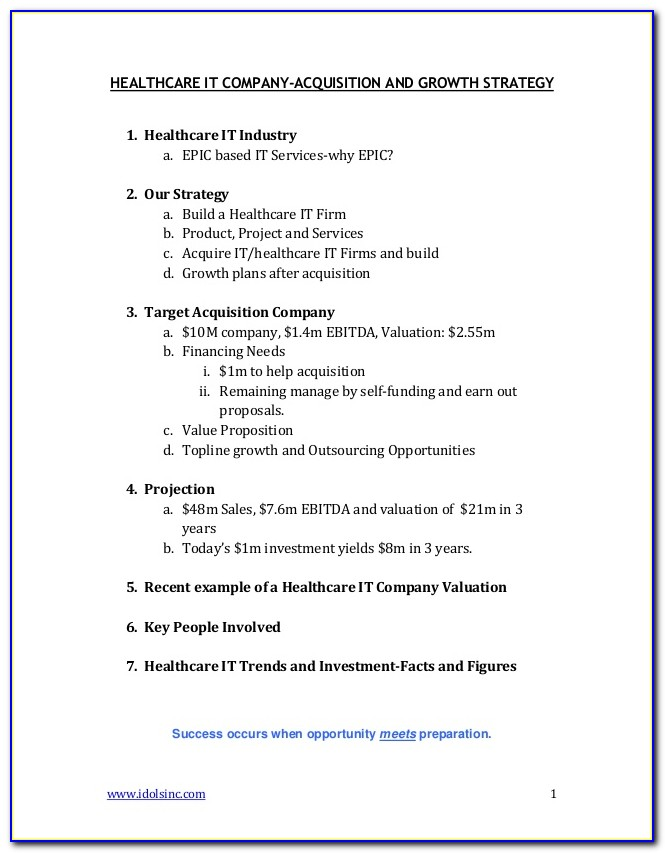 Free Health Care Proposal Template