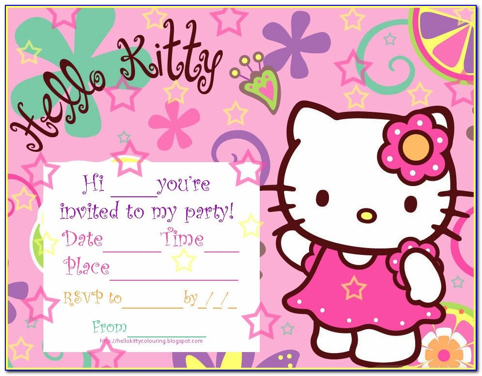 Free Hello Kitty Birthday Invitation Cards To Print