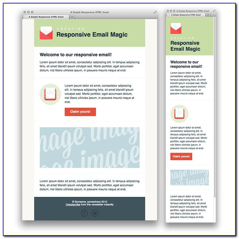 Free Html Newsletter Template Mailchimp