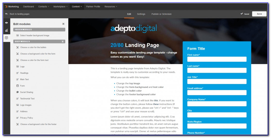 Free Hubspot Landing Page Templates