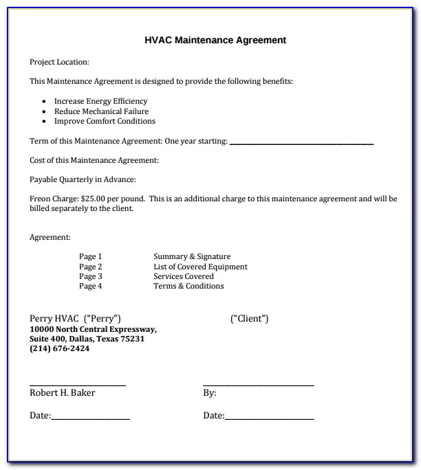Free Hvac Service Order Invoice Template