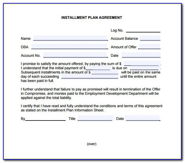 Free Installment Loan Agreement Template