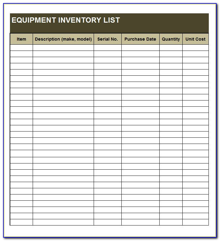 Free Inventory List Excel Template