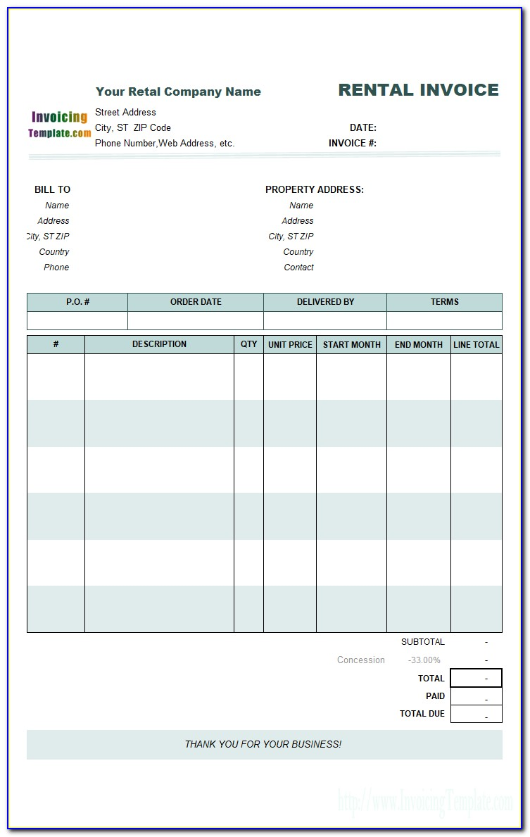 Free Invoice Template For Quickbooks Online