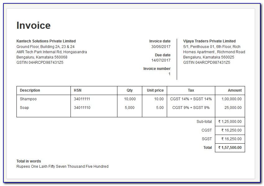 Free Invoice Template Pdf Uk