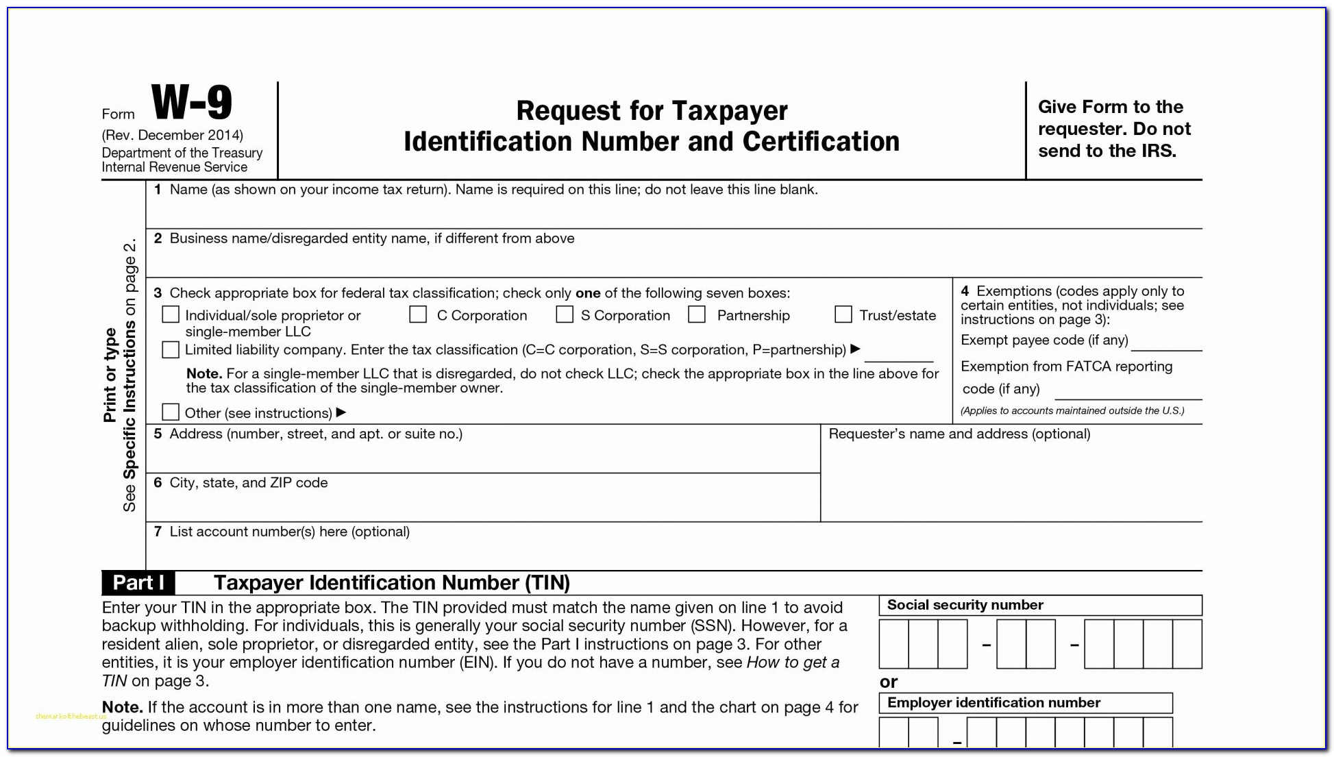 Free Irs 1099 Misc Template
