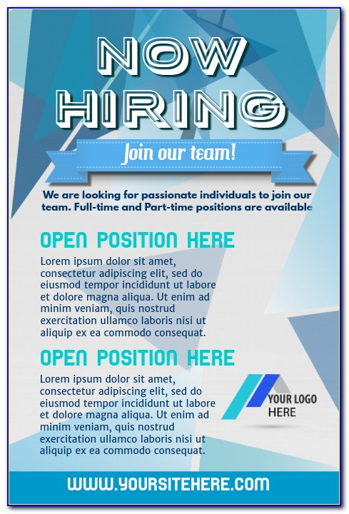Free Job Posting Flyer Template