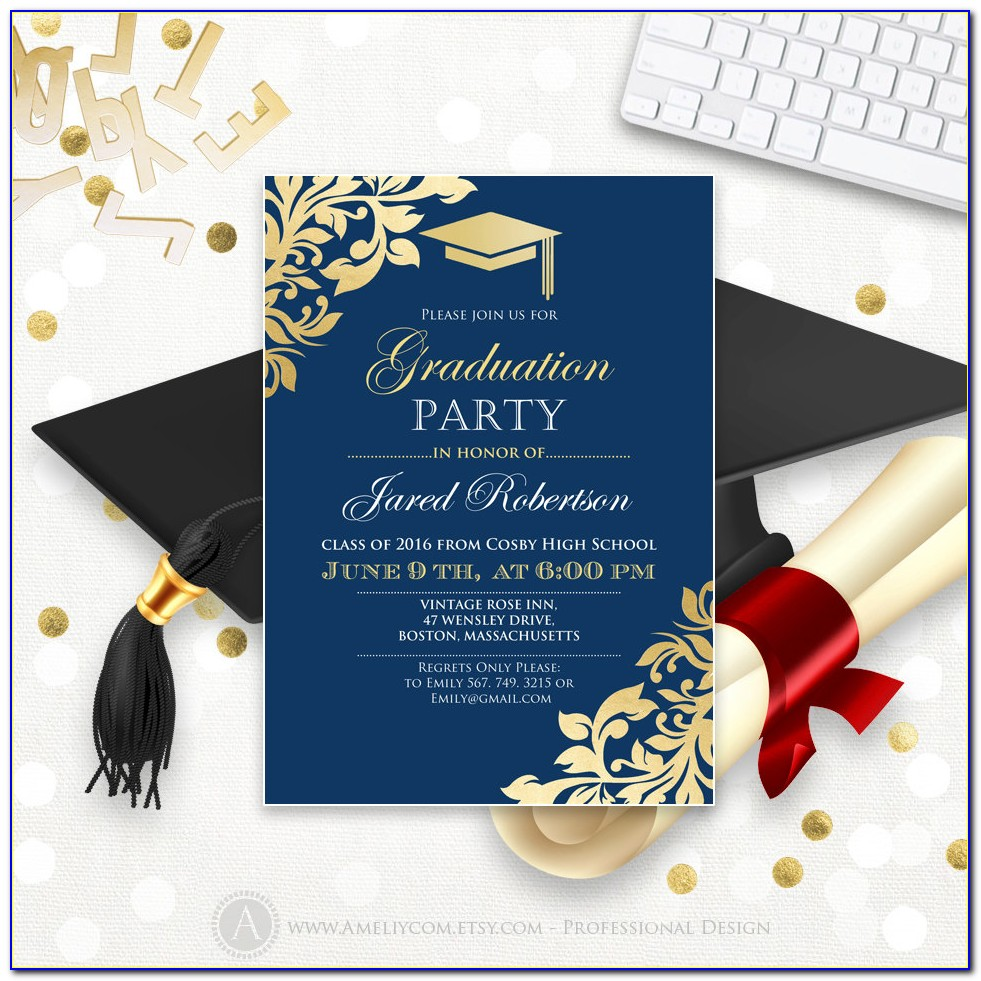 Free Printable High School Graduation Invitations Templates