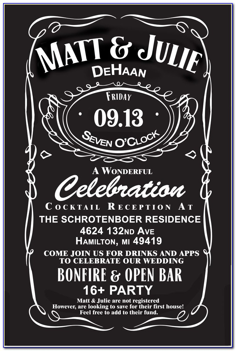 Free Printable Jack Daniels Birthday Invitation Template