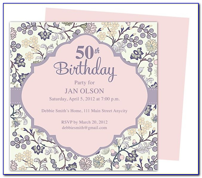 Free Printable Wedding Invitation Templates Word