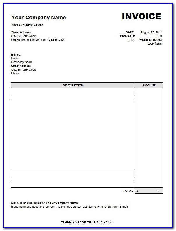 Free Tax Invoice Template Australia Word