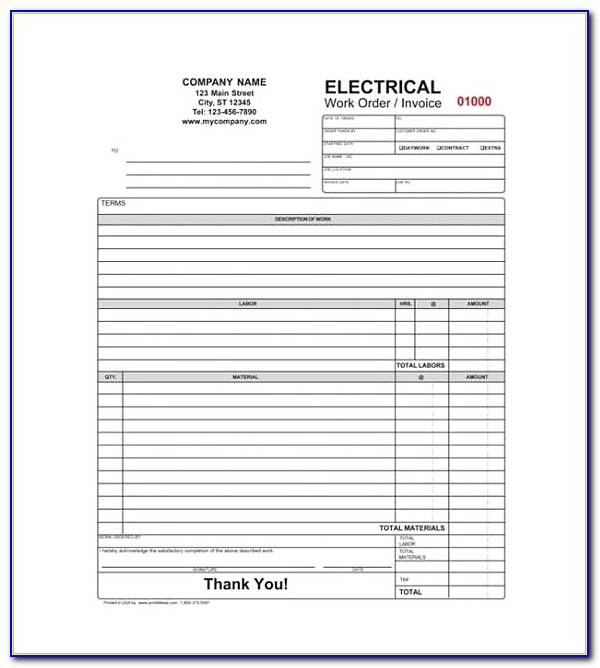 Gst Invoice Format For Electrical Contractors