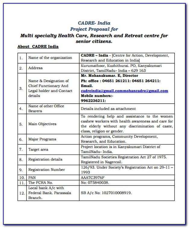 Health Care Proposal Sample