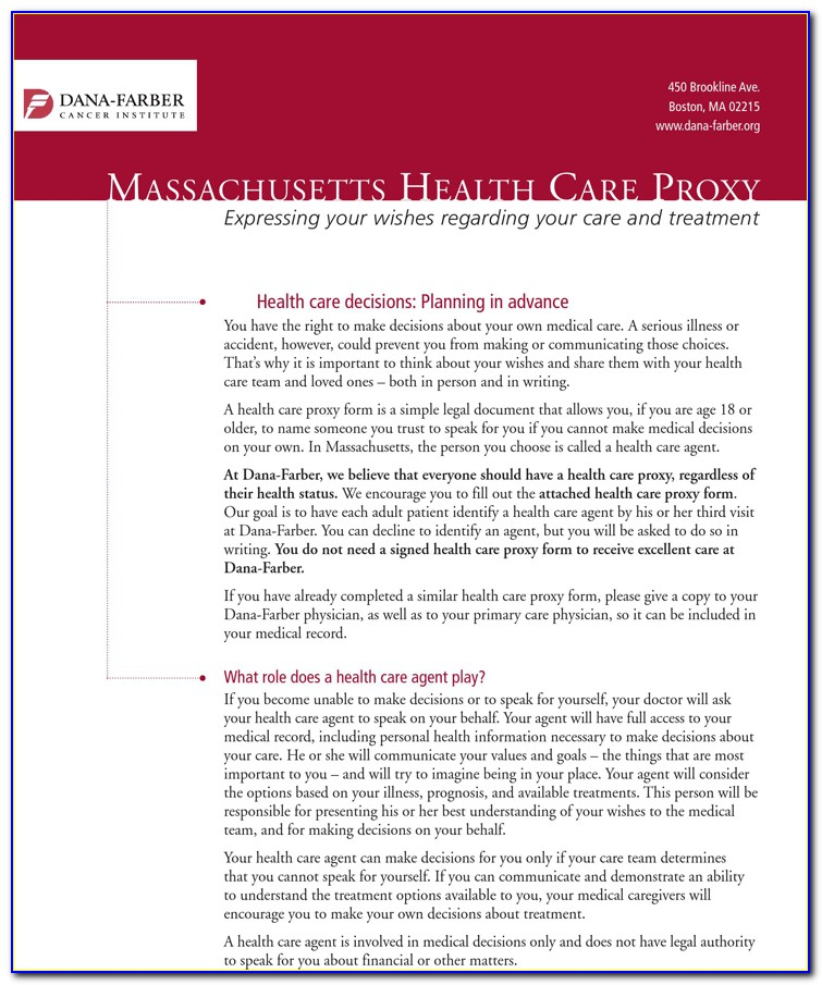 Health Care Proxy Form New York 2014