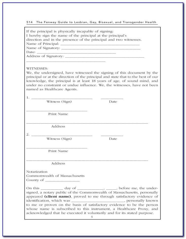 Health Care Proxy Form Ny