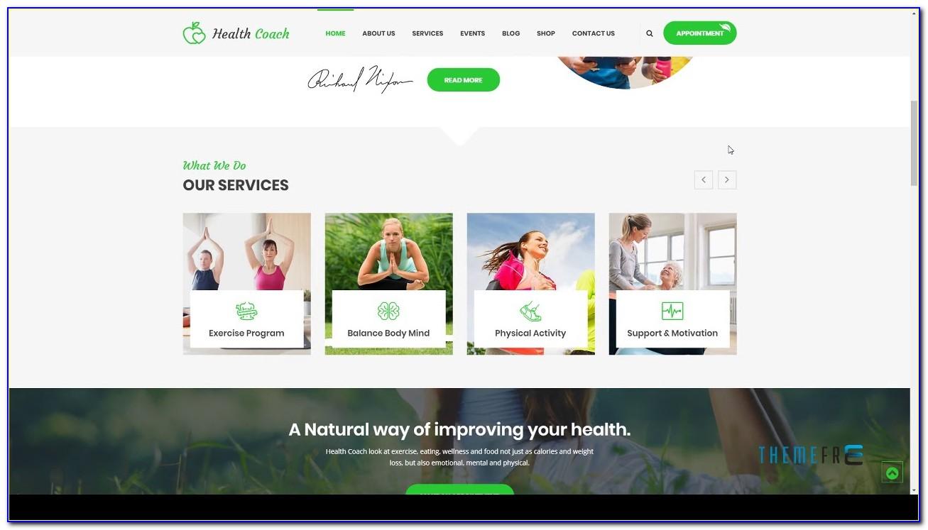 Health Coach Web Template