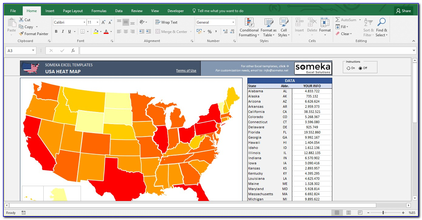Heat Map Template Excel