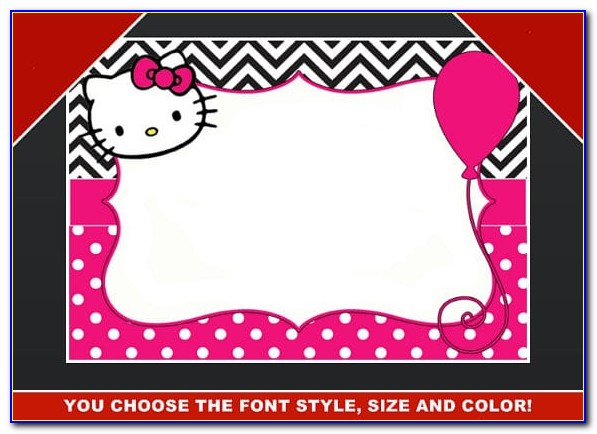 Hello Kitty 7 Th Birthday Invitation Wording