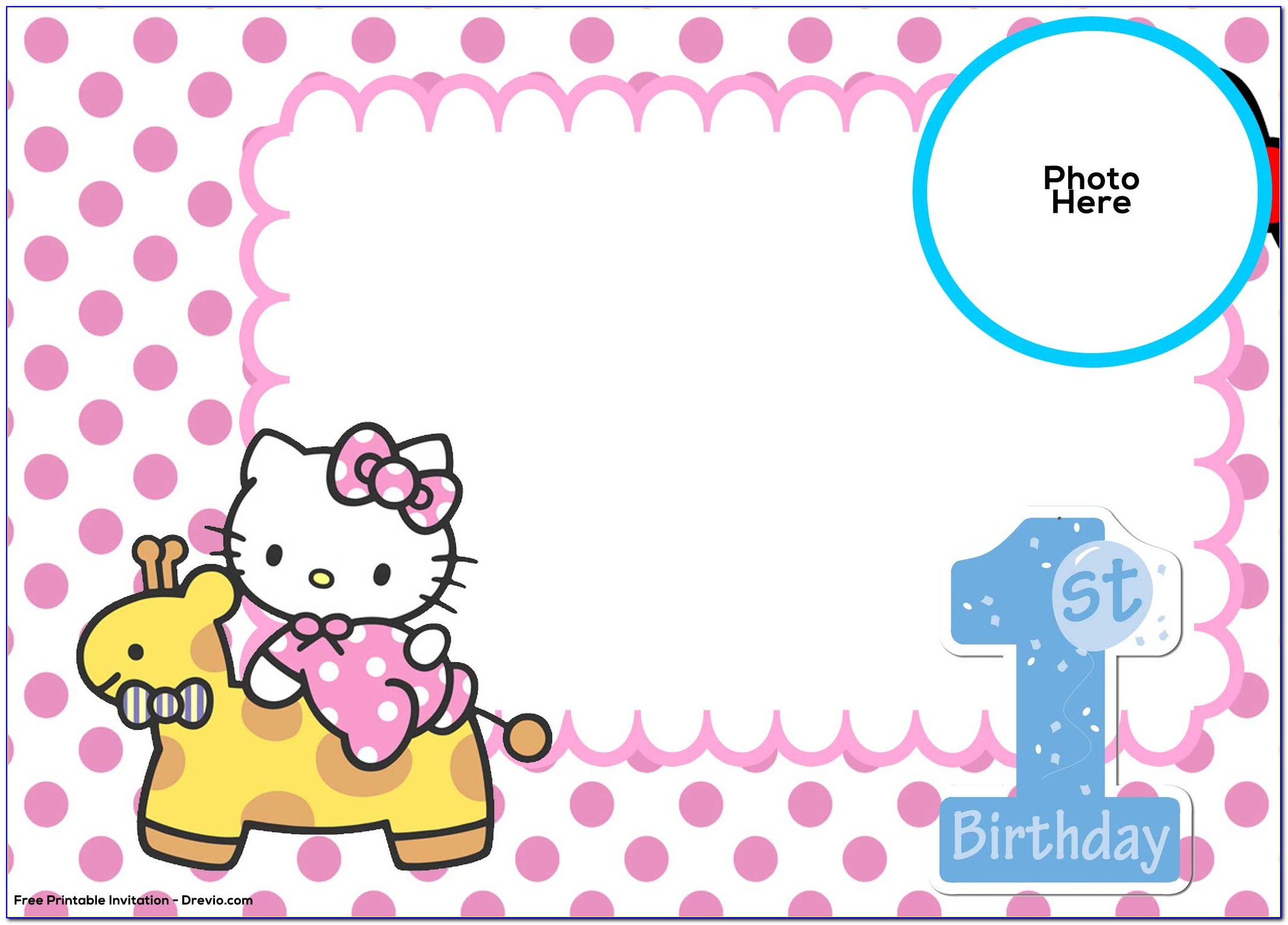 Hello Kitty Birthday Invitation Sample