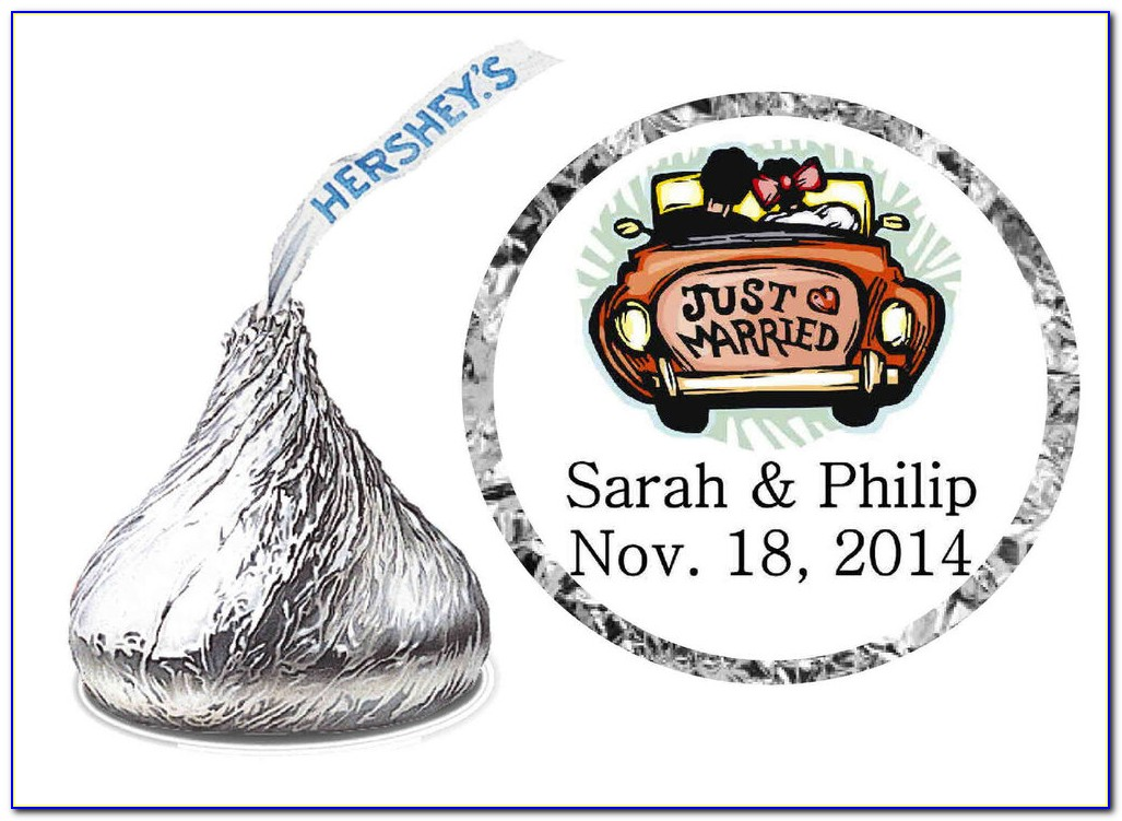 Hershey Kiss Wedding Label Template
