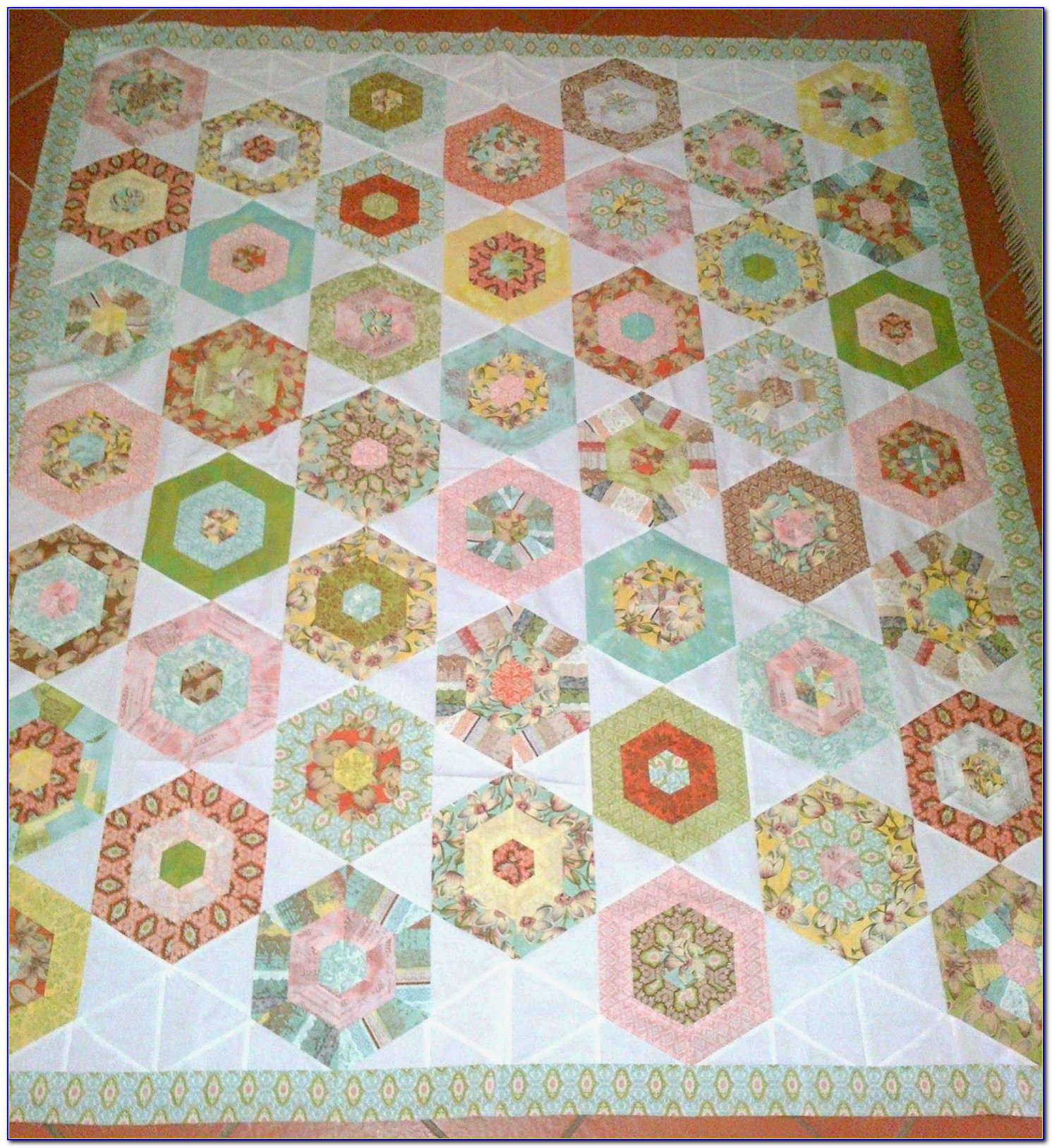 Hexagon Quilt Pattern Free