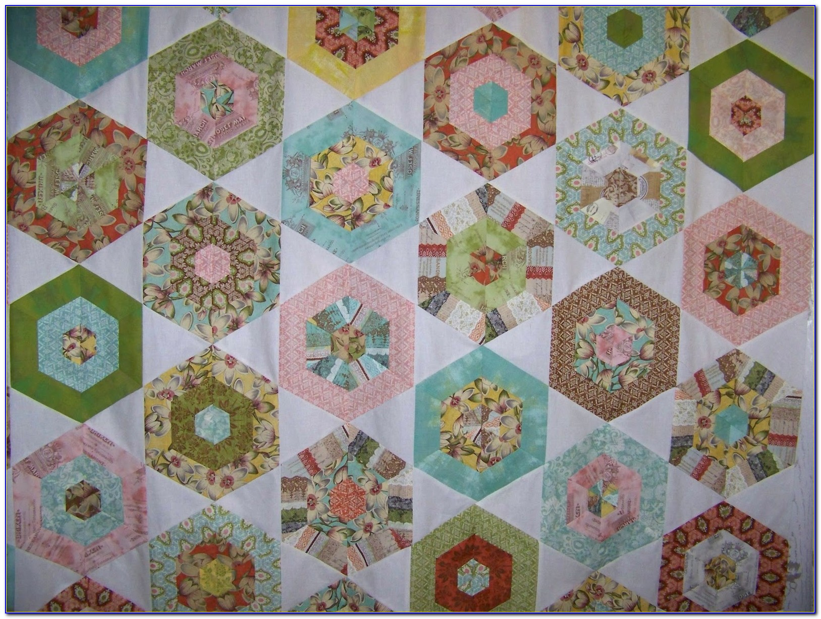 Hexagon Quilt Pattern Tutorial
