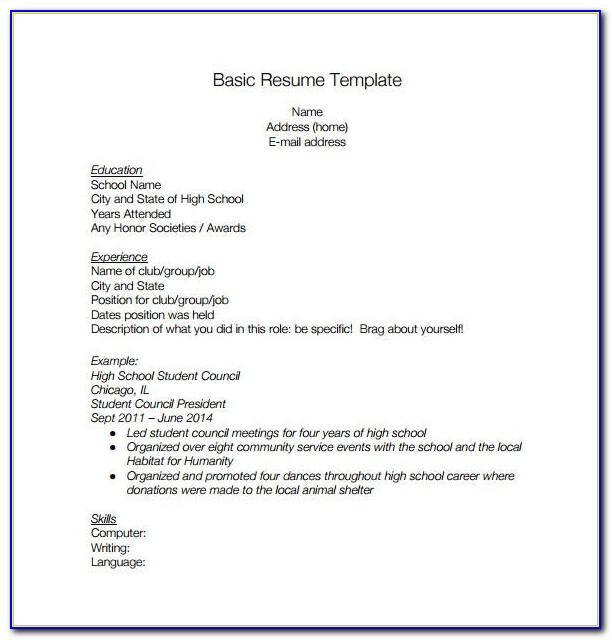 High School Graduate Resume Template Microsoft Word