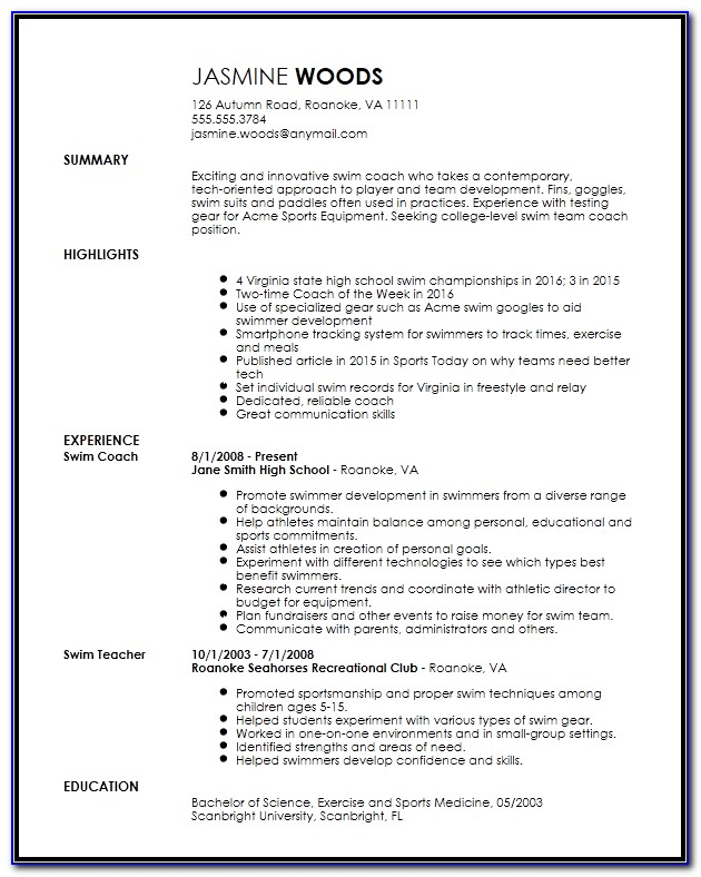 High School Graduate Resume Templates