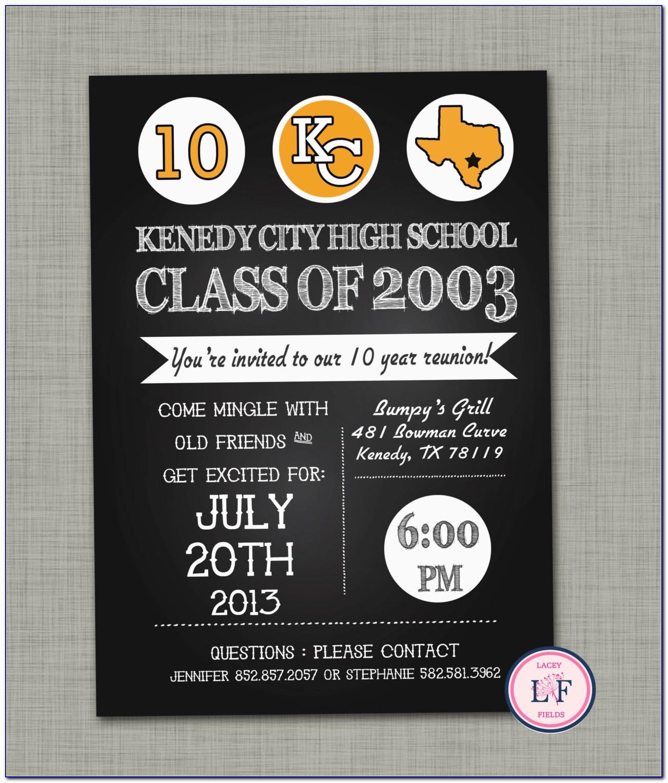 High School Reunion Invitation Flyer Template