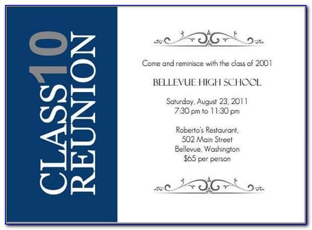 High School Reunion Invitation Templates