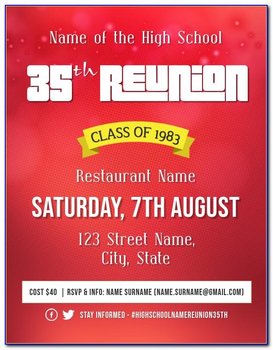 High School Reunion Invitations Free