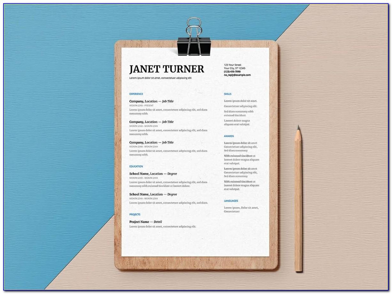 High School Student Resume Format Pdf