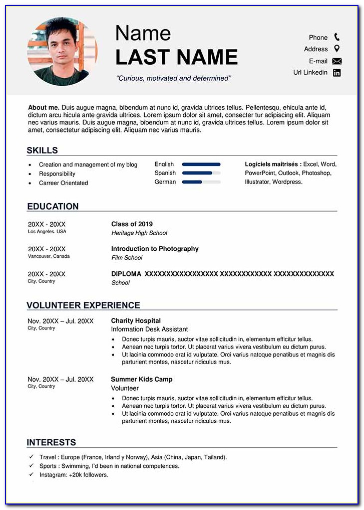 High School Student Resume Template Download