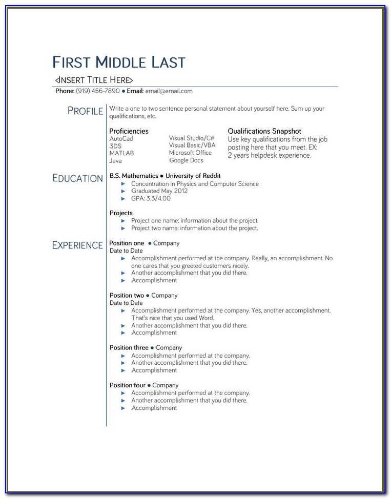 High School Student Resume Template Google Docs