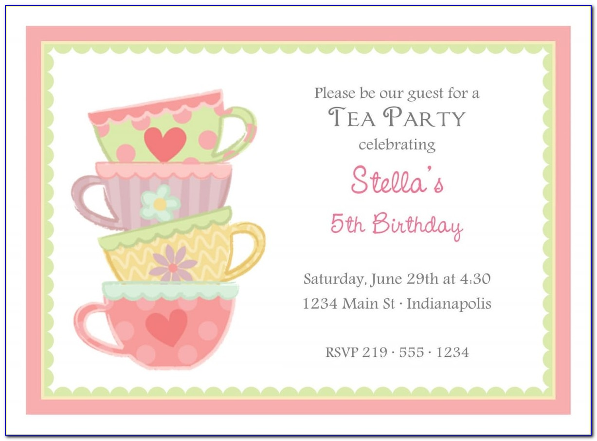 High Tea Invitation Template Free Download Word