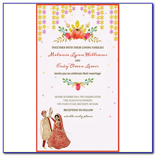 Hindu Wedding Invitation Card Maker Online Free