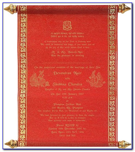 Hindu Wedding Invitation Card Maker