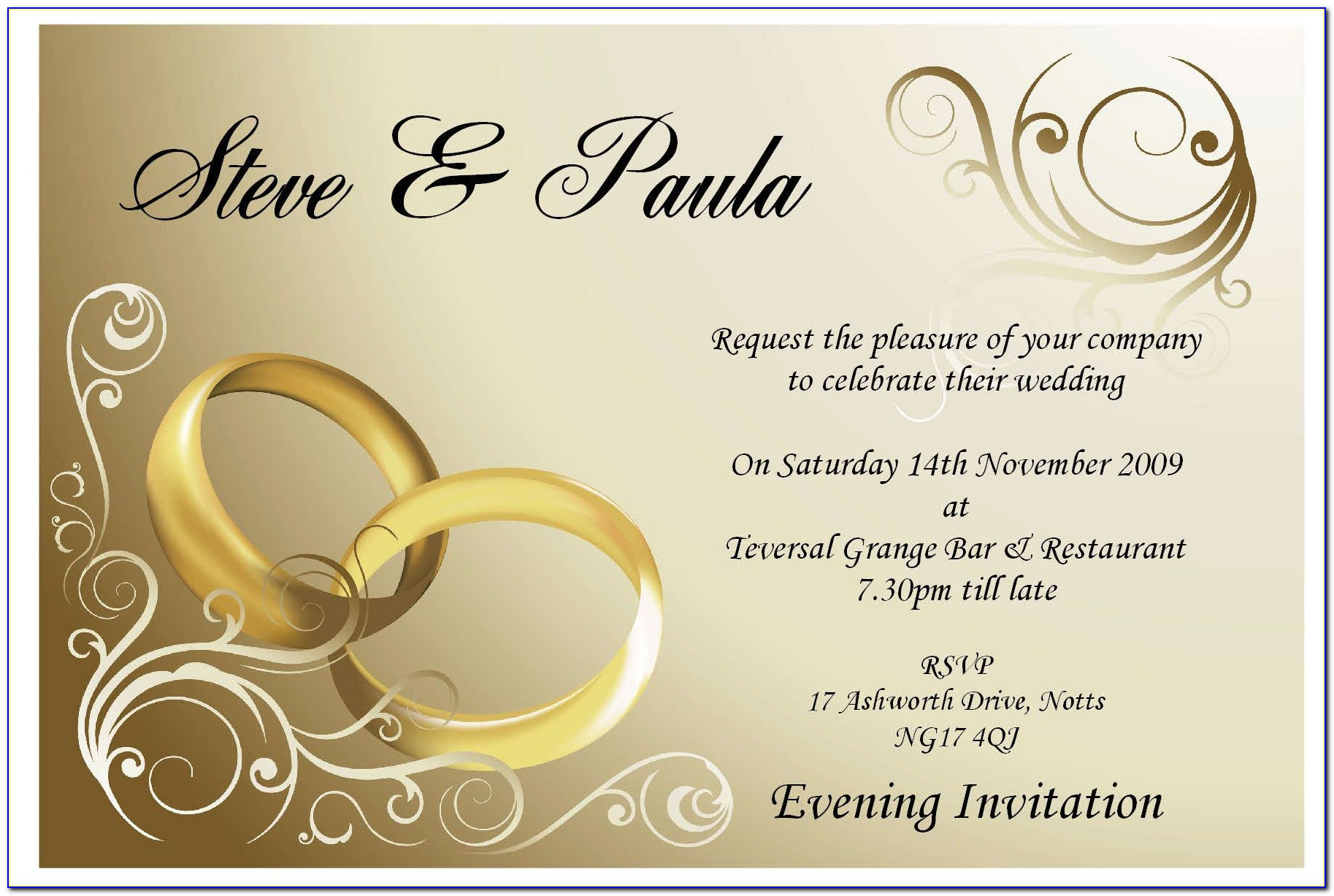 Hindu Wedding Invitation Ppt Templates Free Download