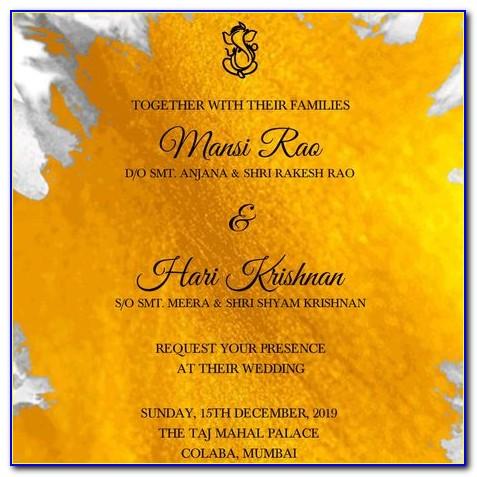 Hindu Wedding Invitation Templates Photoshop