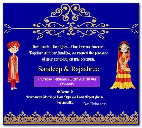 Hindu Wedding Invitation Video Maker Online Free