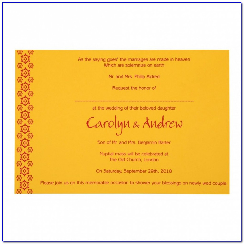 Hindu Wedding Invitation Video Templates Free Download