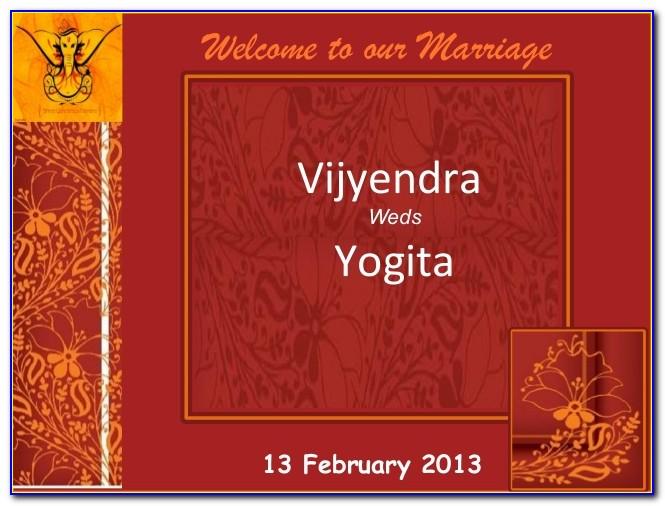 Hindu Wedding Invitations Templates Free Download