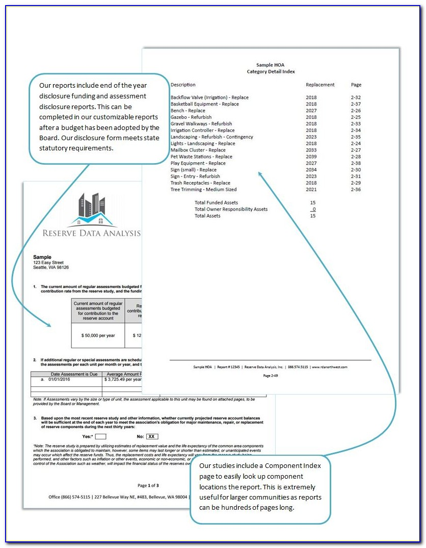 Hoa Reserve Study Excel Template