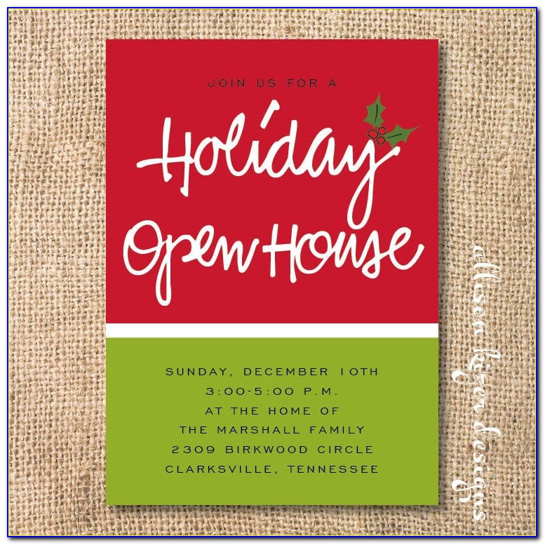 Holiday Open House Invitations Free