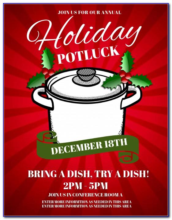 Holiday Potluck Invitation Template Free