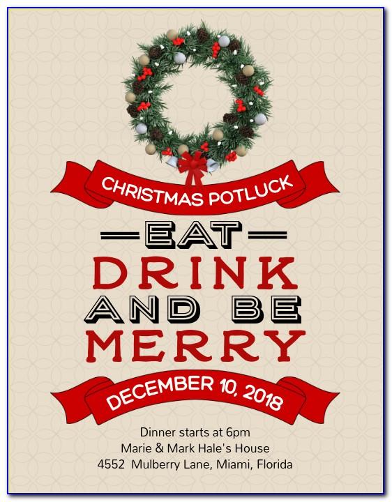 Holiday Potluck Invite Template