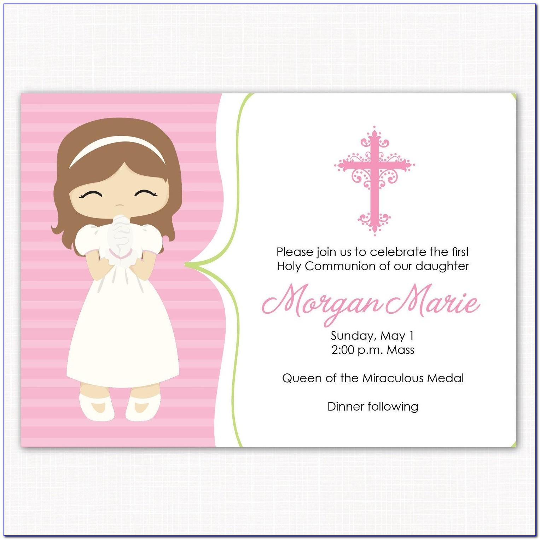 Holy Communion Invitation Card Template Free